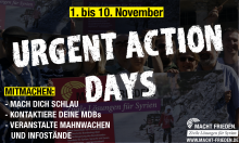 Start Urgent Action Days MACHT FRIEDEN